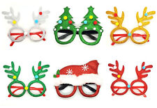Pack of 6 Novelty Christmas Glasses Fun Office Party Wear Xmas Fun Run