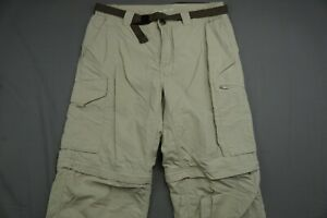 Columbia Omni-Shade Belted Lightweight Convertible Cargo Hiking Pants. 32X32 GUC