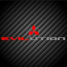 Evilution Decal Evo Mitsubishi Lancer Ralliart MR FQ Bumper Sticker