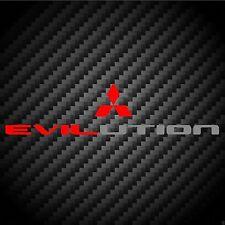 Evilution Decal Evo Mitsubishi Lancer Ralliart MR FQ Bumper Sticker