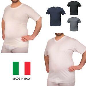 3 maglia intima uomo calibrate taglie forti 100% caldo cotone mezza manica