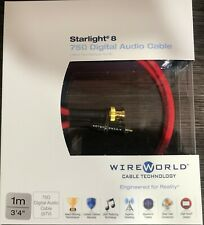 Wireworld Starlight 8 Coaxial to BNC 1,0m Digital Audio Cable