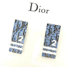 Dior Earrings Trotter Blue Silver Woman Authentic Used A925