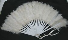 Vintage Victorian 19th Century Ostrich Feather Hand Fan
