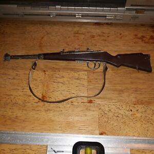 "Vintage Bolt Action Military Rifle Cap Gun RARE 10 14/16"""