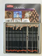 USED BUT LOTS OF LIFE LEFT Derwent Graphic Pencils Metal Tin 4H Missing From Set