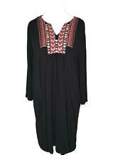 Together Ladies Black Oversized Jersey Tunic Dress Size UK 10 Long Sleeved - 947