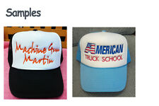 Personalized Custom Make Summer Trucker Mesh Cap Hat Embroidery Sttiched