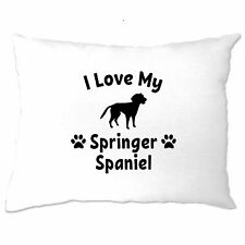 Dog Owner Pillow Case I Love My Springer Spaniel Pet Lover Cute Breed