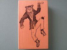 Werewolf/Dog? w/Bolts in Neck STAMPA BARBARA Rubber Stamp Halloween Monster RARE