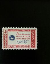 1960 4c Francis Scott Key, In God is Our Trust Scott 1142 Mint F/VF NH
