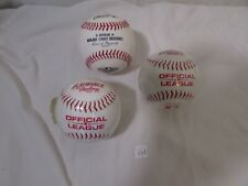 NEW Lot of 2 Playmaker by Rawlings Official League Baseball + 1 2019 opening day