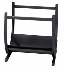 Uniflame® Black Wrought Iron Fire Wood Holder Log Rack W-1185