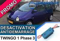 Clé de désactivation d'anti démarrage Renault TWINGO 1 PHASE 3 et 4