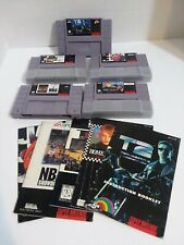 5 Super Nintendo Game Cartridges With Instructions