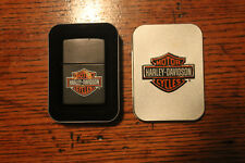 HARLEY DAVIDSON BAR & SHIELD BLACK MATTE  ZIPPO LIGHTER  w/ BOX 2007