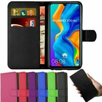 Case For Huawei P20 P30 Pro Lite Sleek Leather Magnetic Flip Cover Wallet Stand