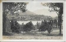 Lakeside Clubhouse Lake Placid Club Ny real photo postcard postally used in 1922