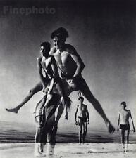 1932/88 Germany BOYS Males PLAYING Baltic Sea Beach HERBERT LIST Photo Art 16X12