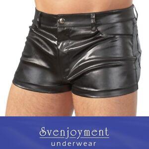 Svenj. Retro Style Wetlook Master Shorts Pants eng GEIL SEXY HERREN in S bis 2XL