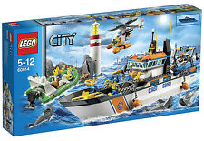 Lego City Town 60014 COAST GUARD PATROL BOAT Zodiac Helicopter Ship Xmas Present