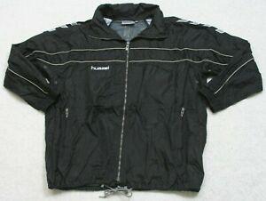 Athletic Jacket Hummel Nylon Soccer Coat Zipper Front Medium Polyester Lined