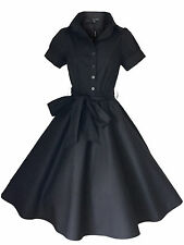 50'S 40'S STYLE ROCKABILLY PINUP SWING  EVENING PARTY TEA DRESS SIZES 6 - 20