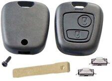 Kit De Reparación Para Peugeot 307 2 botón remoto clave Funda Con Blade & 2 Interruptores