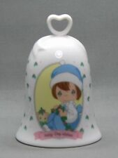 Precious Moments Bell Holly Day Wishes Girl Kitten 1997 Free Usa Shipping