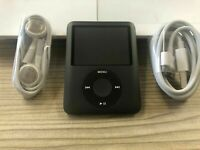 Apple iPod Nano 3rd Generation Black 8GB New battery With accessories