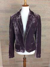 Gianni Bini Purple Velvet Women's Size L Large Long Sleeve Blazer Jacket