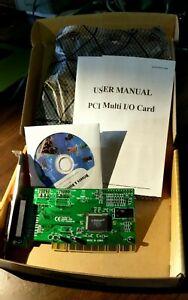 New 9805CV Single Parallel PCI Multi I/O Controller Card PCI SPP/EPP/ECP Mode