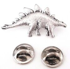 Stegosaurus Dinosaur Handcrafted in Solid Pewter in Uk Lapel Pin Badge
