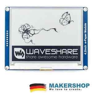 "Waveshare 4,2"" E-Ink Modul 400x300 E-Paper Display SPI LCD Arduino Raspberry ..."