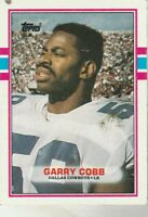 FREE SHIPPING-MINT-1989 Topps #393 Garry Cobb Cowboys PLUS BONUS CARDS