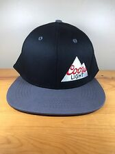 New Coors Light Snapback Hat Black Grey Beer Molson Adjustable