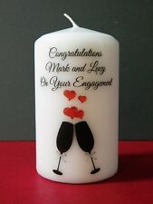 Personalised Engagement Wedding Anniversary Love Any Occasion Candle Gift