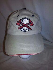 Rome Braves Baseball Adjustable Hat Cap Khaki Promotional Adventures EUC