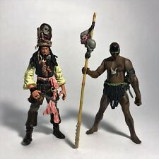 POTC Cannibal King Jack Sparrow & Cannibal Chief Figure Lot Zizzle 2006