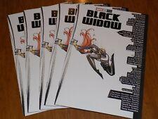 BLACK WIDOW #1, PEACH MOMOKO SKYLINE VARIANT ~ 5 pack of comics! MOVIE COMING