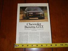 1990 CHEVROLET BERETTA GTZ - ORIGINAL ARTICLE