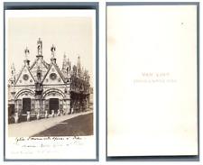 Van Lint, Italie, Pise L'église Santa Maria della Spina CDV vintage albumen