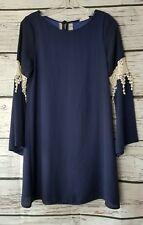 Altar'd State Dress Blue Long Sleeves Size Small S