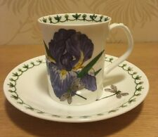 Rosina Queens - Blue Iris - Coffee Cup and Saucer - Duo - Excellent Condition