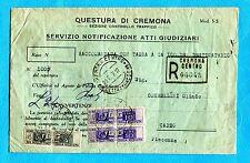 PACCHI POSTALI USATI COME SEGNATASSE - Lettera del Serv.Notificaz.Atti  (236041)