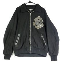 Pelle Pelle Wool Black Men's Jacket Coat Embroidered Large Studded