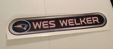 """Wes Welker FATHEAD Official Player Nameplate Graphic 31"""" x 5.5"""" Patriots Banner"""