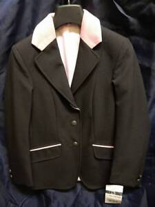 "Caldene Maids Harewood Jacket - Black & Pink - Size 28"""