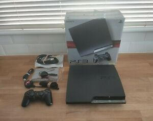 Boxed Sony PlayStation 3 - Slim 250GB Charcoal Black Console