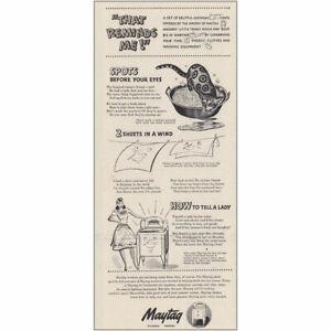 1943 Maytag: That Reminds Me Vintage Print Ad